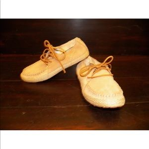 New Womens UGG Azin Chestnut Moccasin Lace Up Shoe